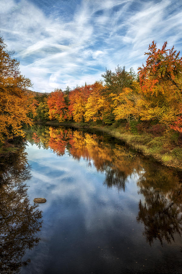Vertical Photograph - Colorful Reflection by Mark Papke