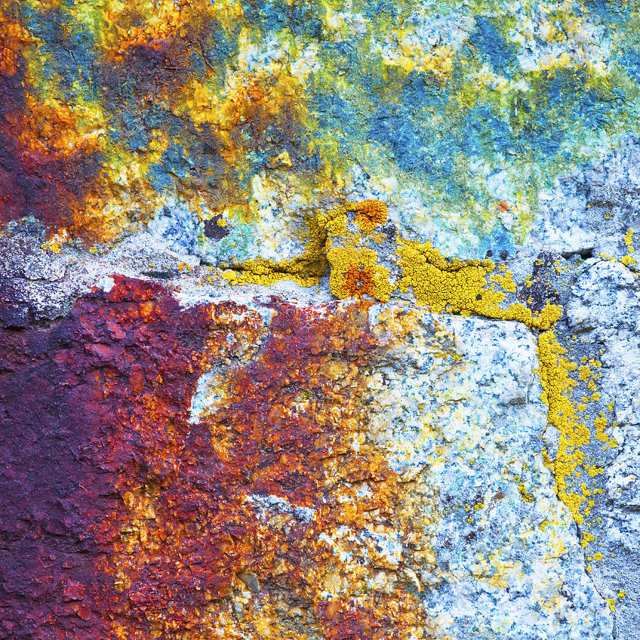 Rock Photograph - Colorful Rock 5973 by Bob Hills