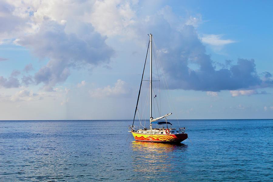 Colorful Sailing Boat, Saint Lucia Photograph by Flavio Vallenari