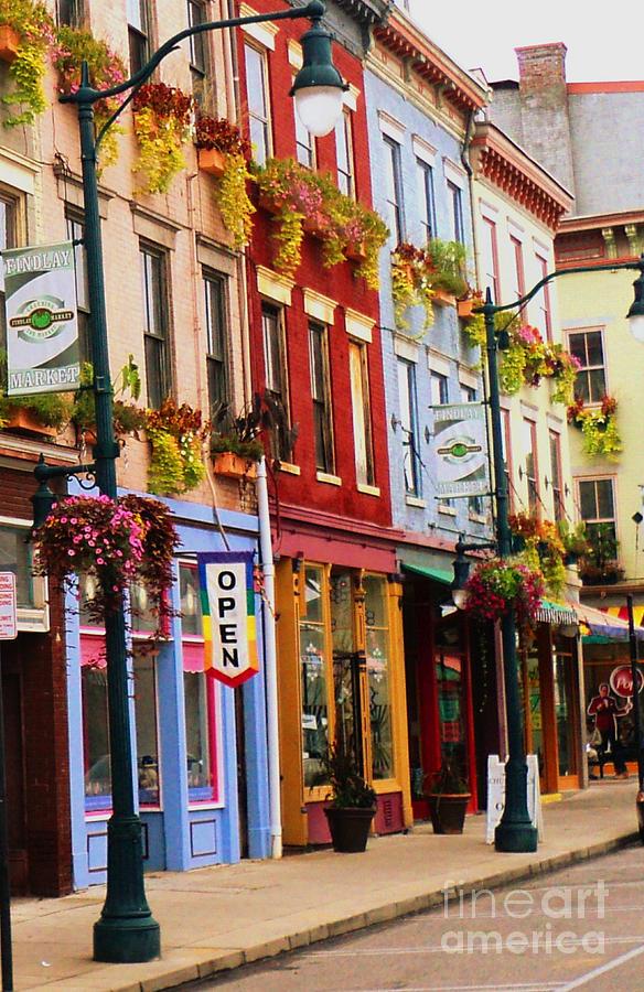 Cincinnati Photograph - Colorful Shops by Jennifer Kelly