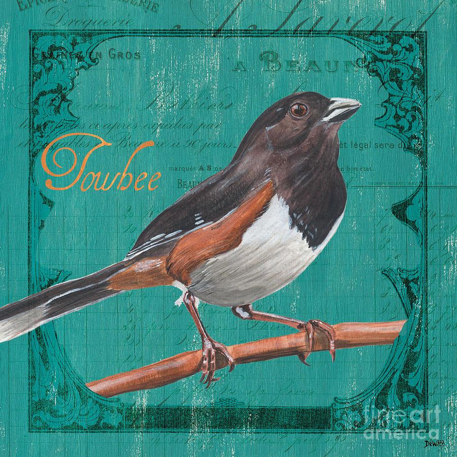 Bird Painting - Colorful Songbirds 3 by Debbie DeWitt