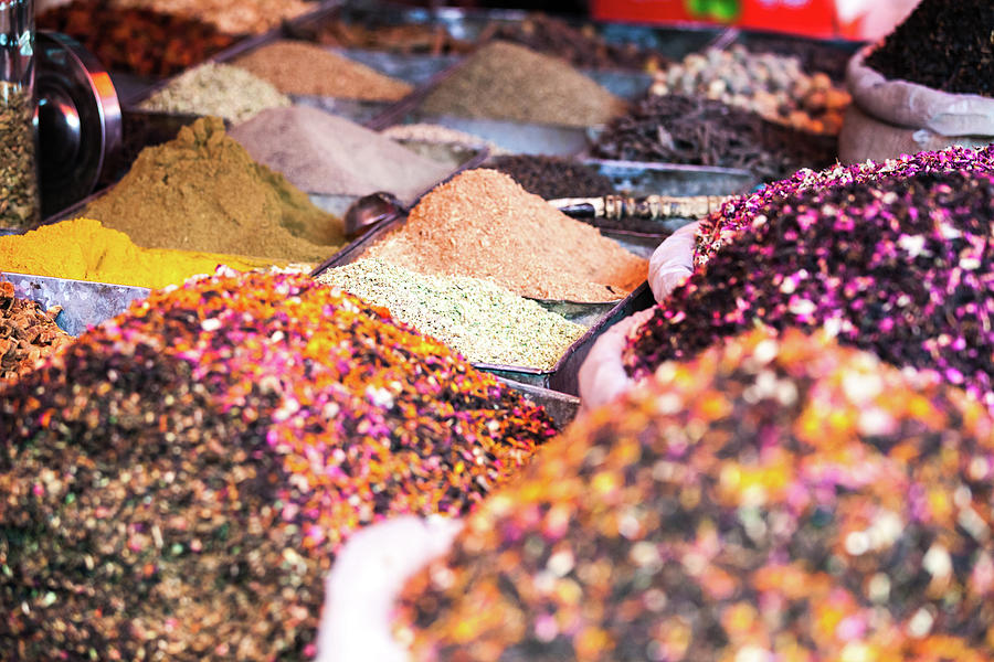 Colorful Spices For Sale At Kashgar Photograph by Matteo Colombo