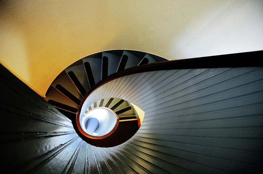 Colorful Spiral Staircase, Lighthouse Photograph by Olaser