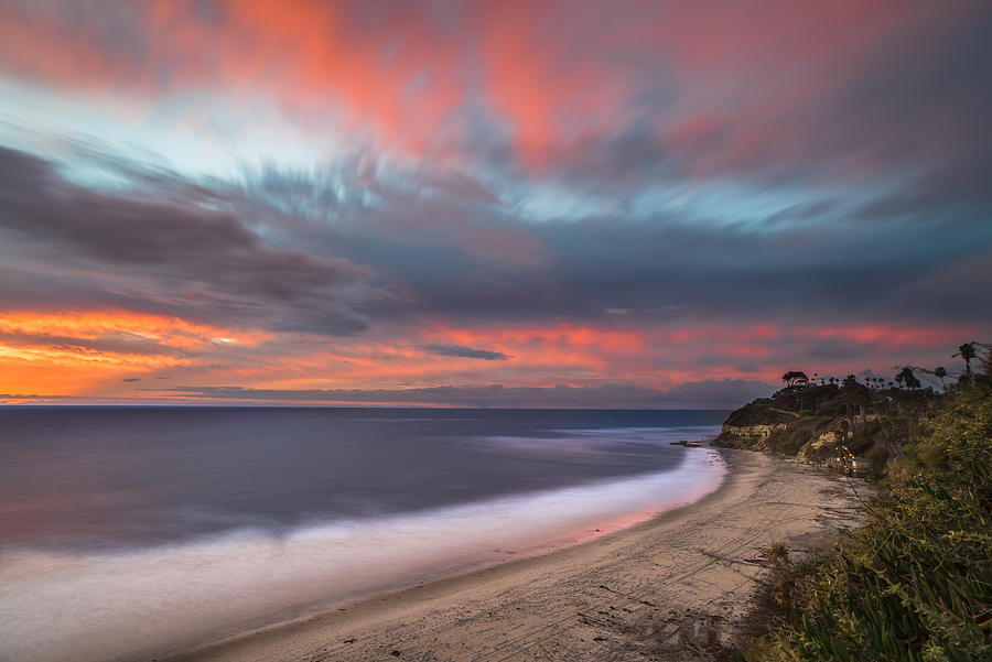 Encinitas Photograph - Colorful Swamis Sunset by Larry Marshall