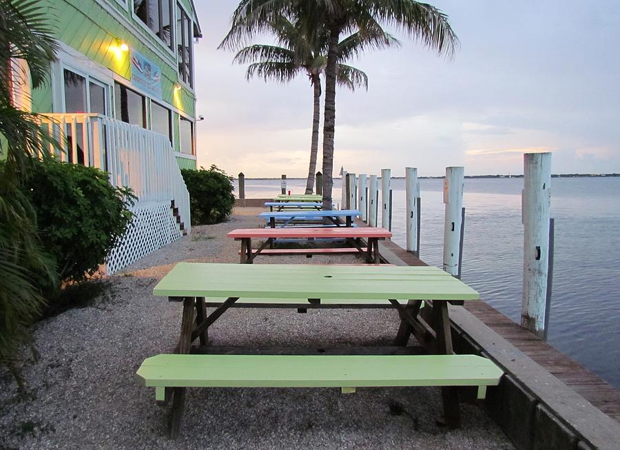 Table Photograph - Colorful Tables by Cynthia Guinn