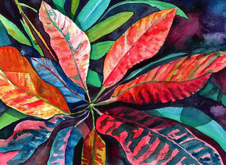 Colorful Tropical Leaves 2 Painting By Marionette Taboniar