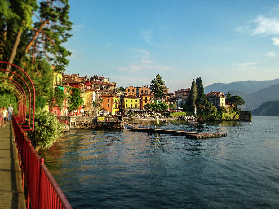 Colorful Varenna Italy Photograph by Melinda Moore