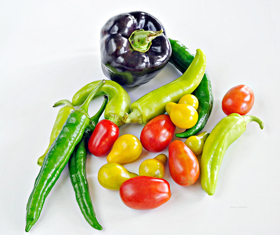 Kenny Francis Photograph - Colorful Veggies On White by Kenny Francis