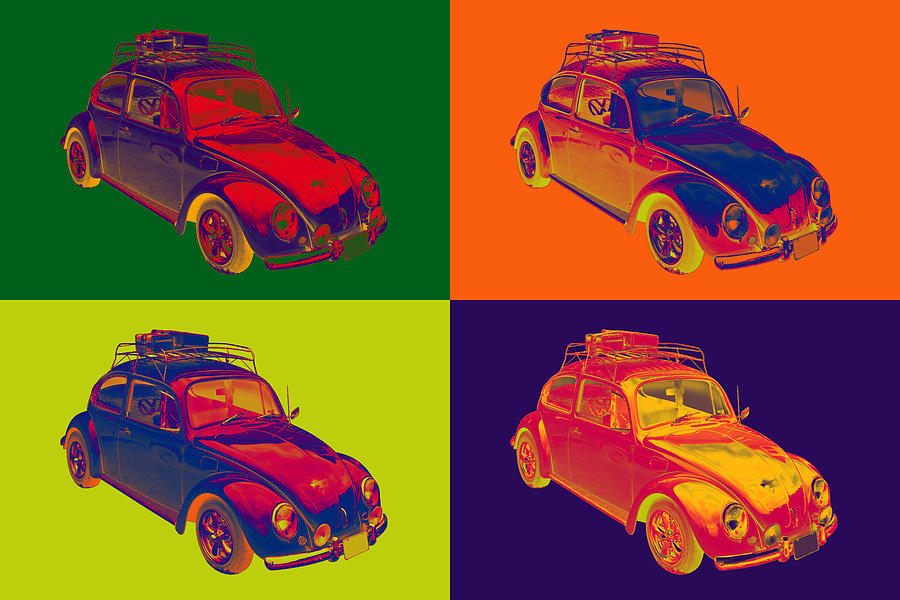 Colorful Volkswagen Beetle Punch Buggy Modern Pop Art ...