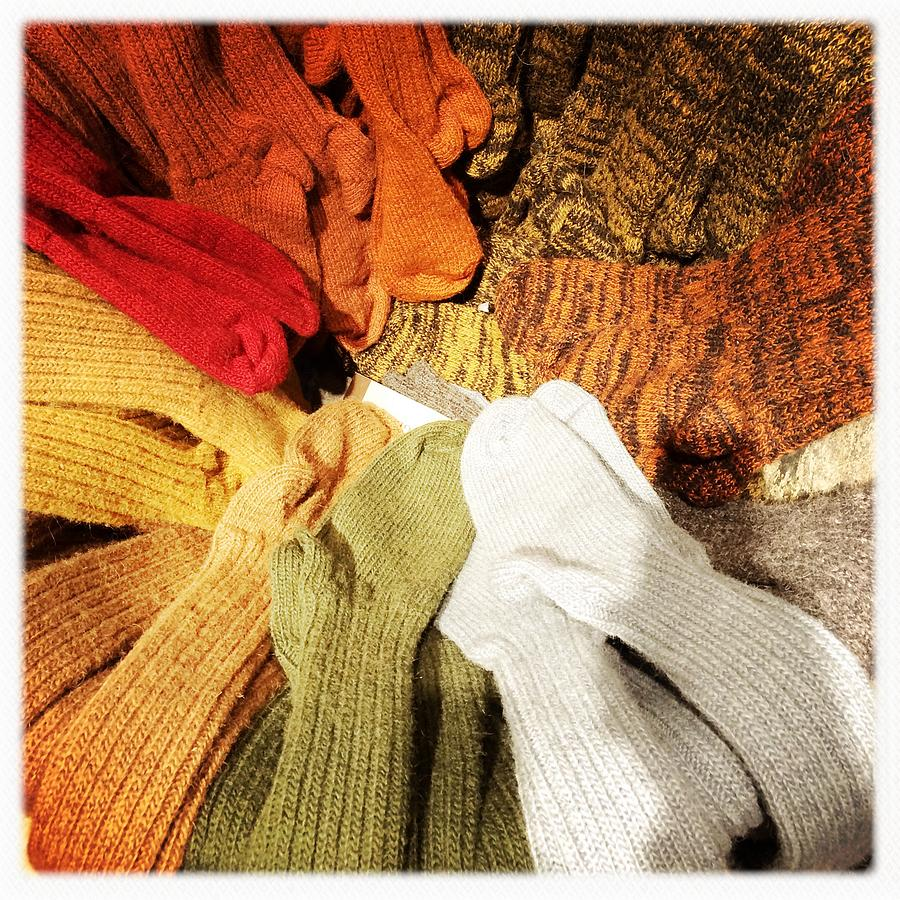 Socks Photograph - Colorful Woolen Socks by Matthias Hauser