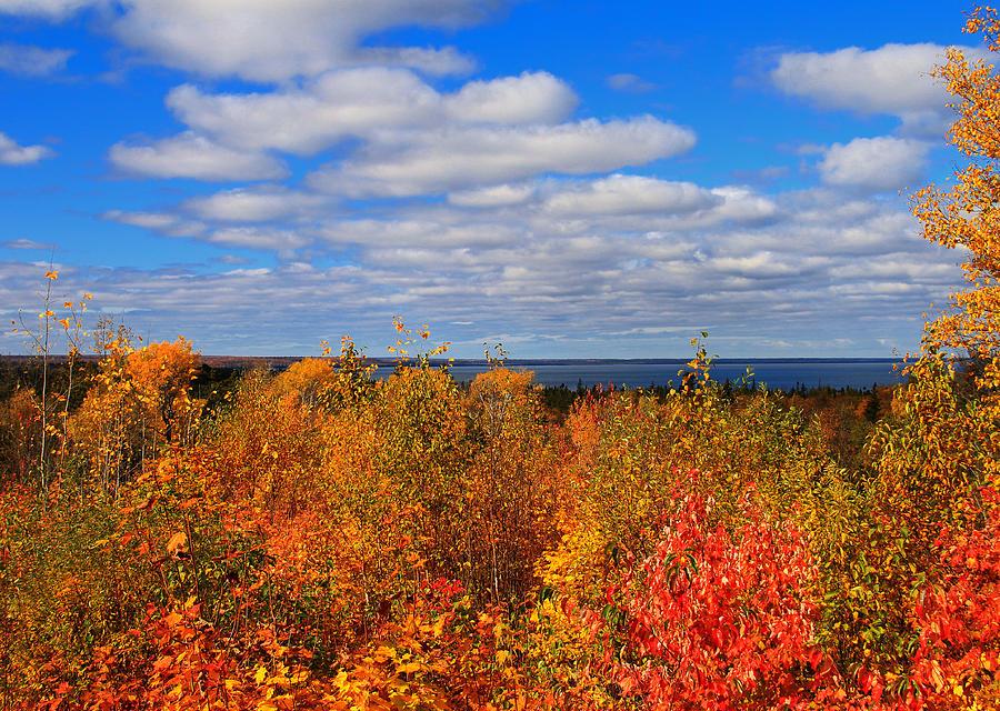 Fall Color Photograph - Colors Above Lake Superior by Rachel Cohen