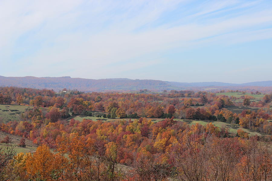 Fall Photograph - Colors Across The Valley. by Edward Hamilton