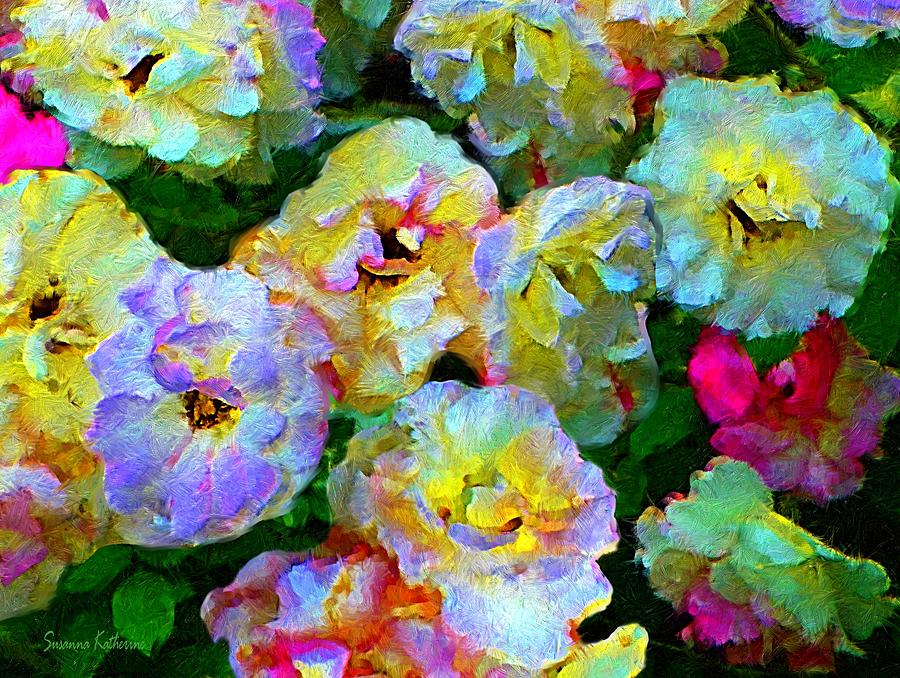 Rose Bush Painting - Colors And Roses by Susanna Katherine