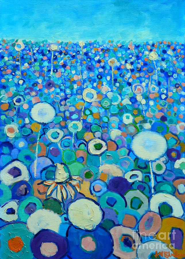 Floral Painting - Colors Field In My Dream by Ana Maria Edulescu