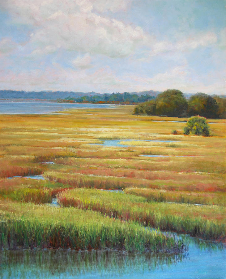 Marsh Painting - Colors in the Marsh by Pam Talley
