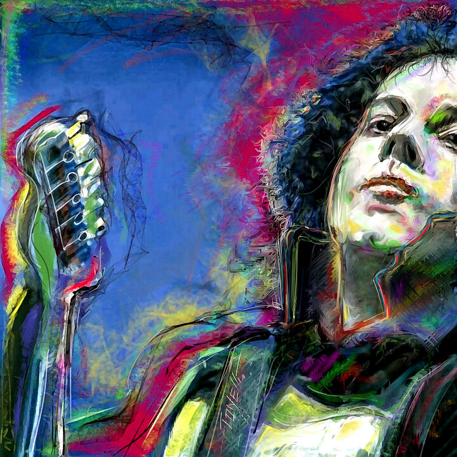 Jack Mixed Media - Jack White ...Colors in White... by Mark Tonelli