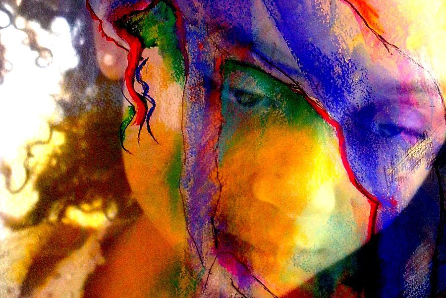 Female Photograph - The Mask by Jodie Marie Anne Richardson Traugott          aka jm-ART