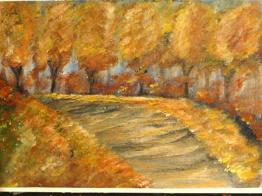 Colors Of Autumn Painting by Corina  Lupascu