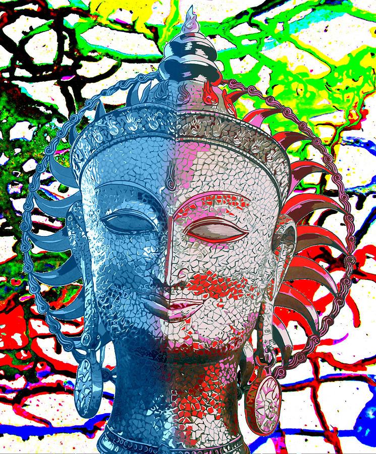 Universe Painting - Colors of divinity by Karunita Kapoor