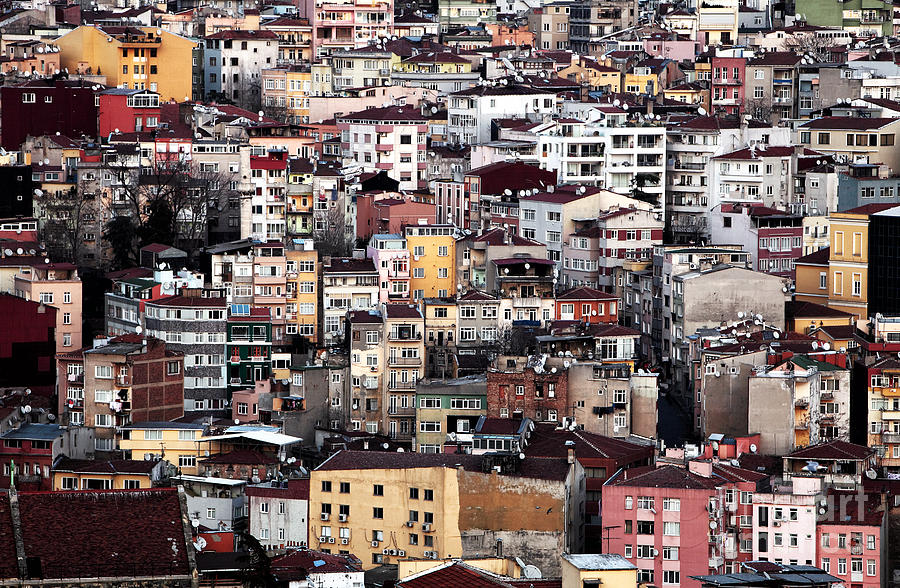 Galata Photograph - Colors Of Istanbul by John Rizzuto
