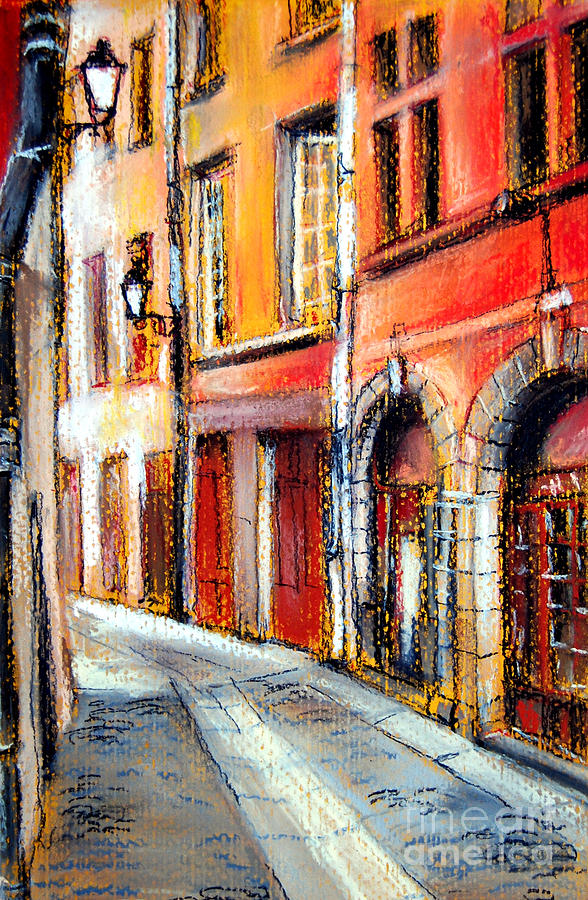 France Pastel - Colors Of Lyon 3 by Mona Edulesco