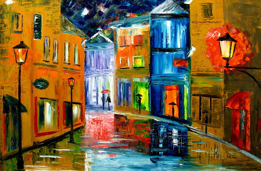 Landscape Painting - Colors Of The Night by Mariana Stauffer