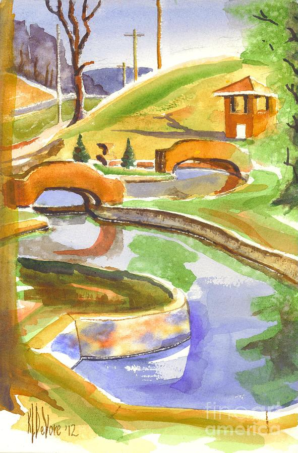 Water Color Painting - Colors On A Cloudy Day II by Kip DeVore