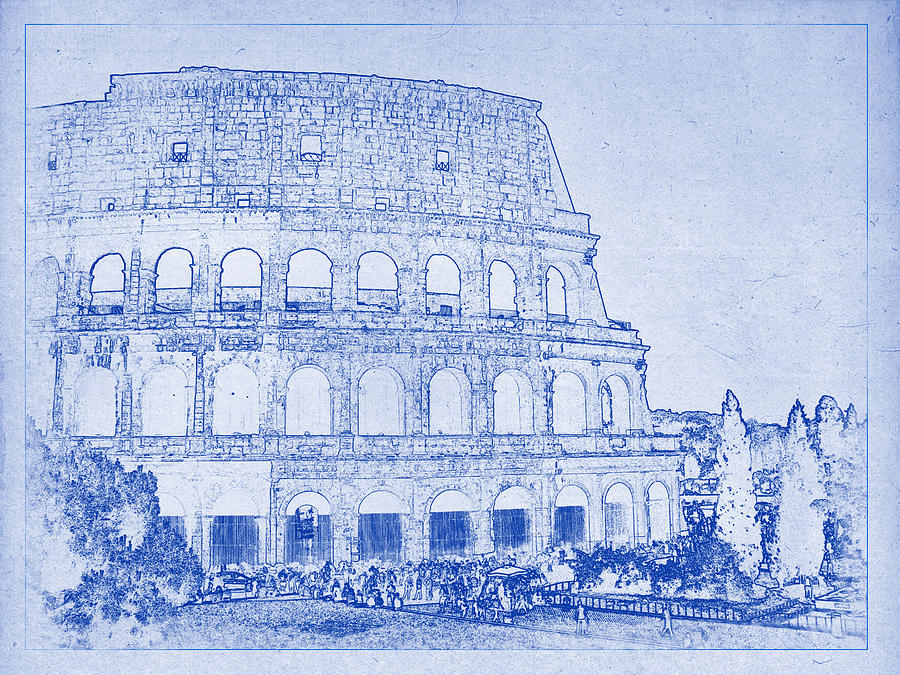 Colosseum of rome blueprint photograph by kaleidoscopik photography colosseum photograph colosseum of rome blueprint by kaleidoscopik photography malvernweather Choice Image