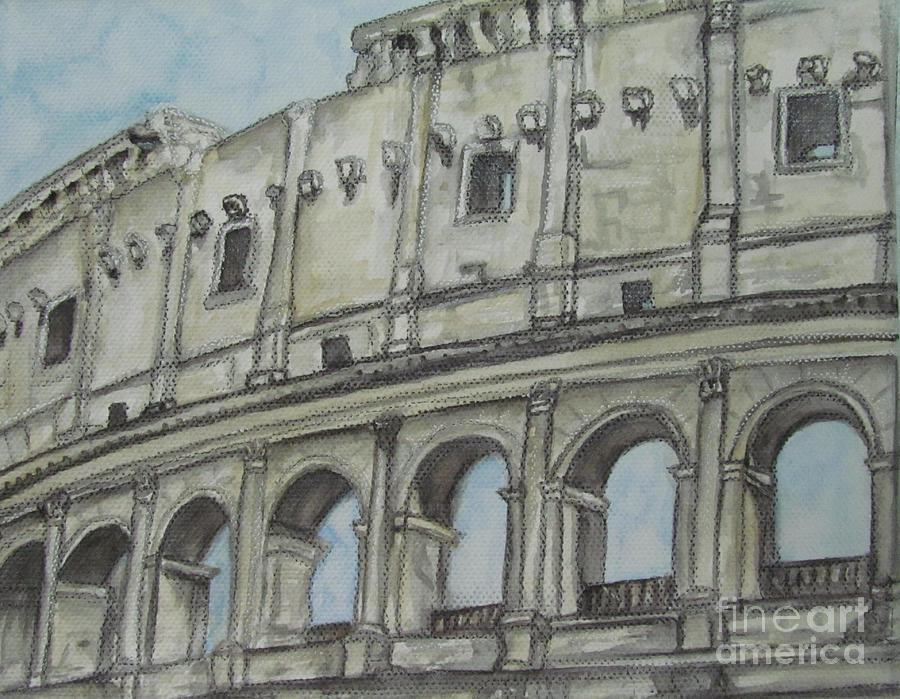 Colosseum Rome Italy by Malinda  Prudhomme