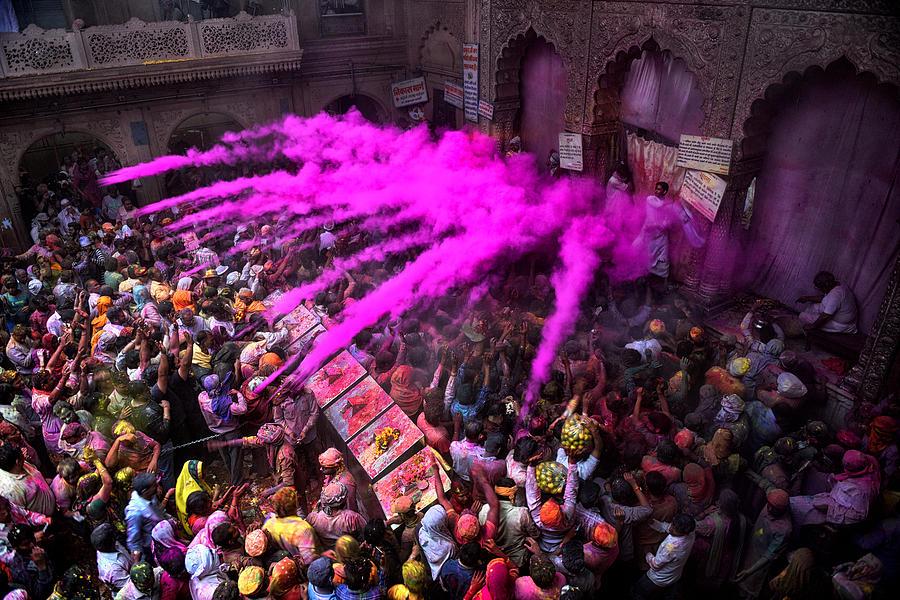 People Photograph - Colour Blast by Avishek Das