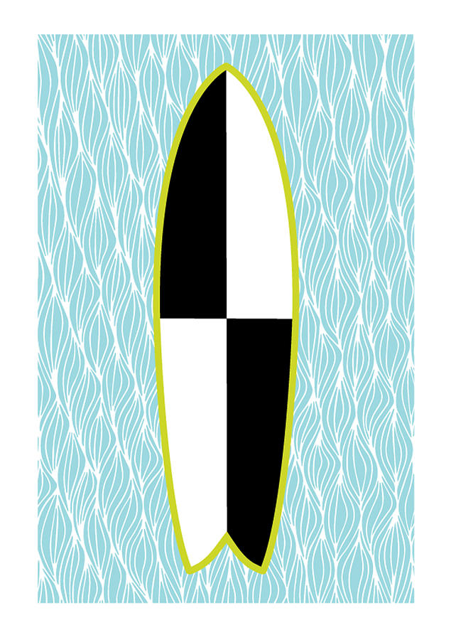 Susan Claire Photograph - Colour Block Surfboard by MGL Meiklejohn Graphics Licensing
