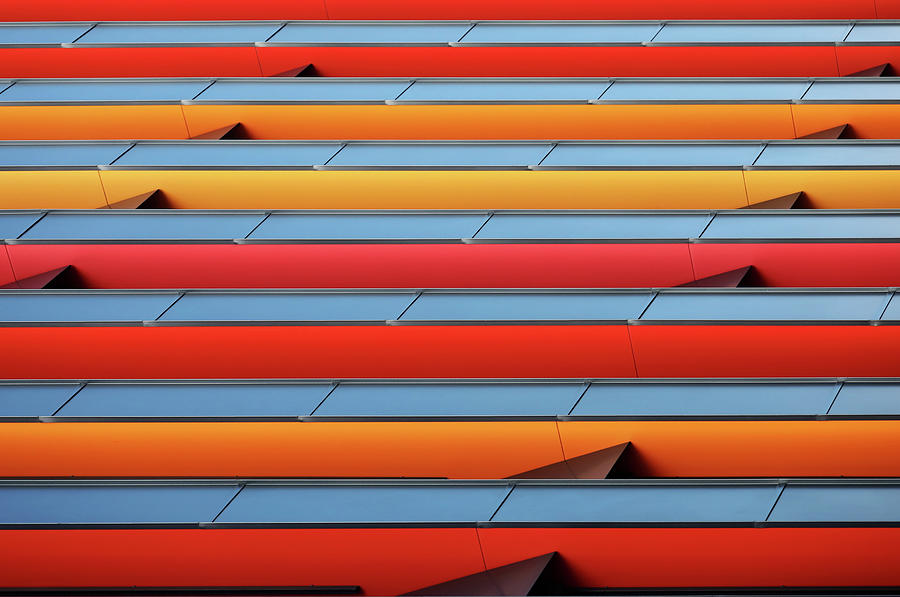 Abstract Photograph - Colour Stripes by Hans-wolfgang Hawerkamp