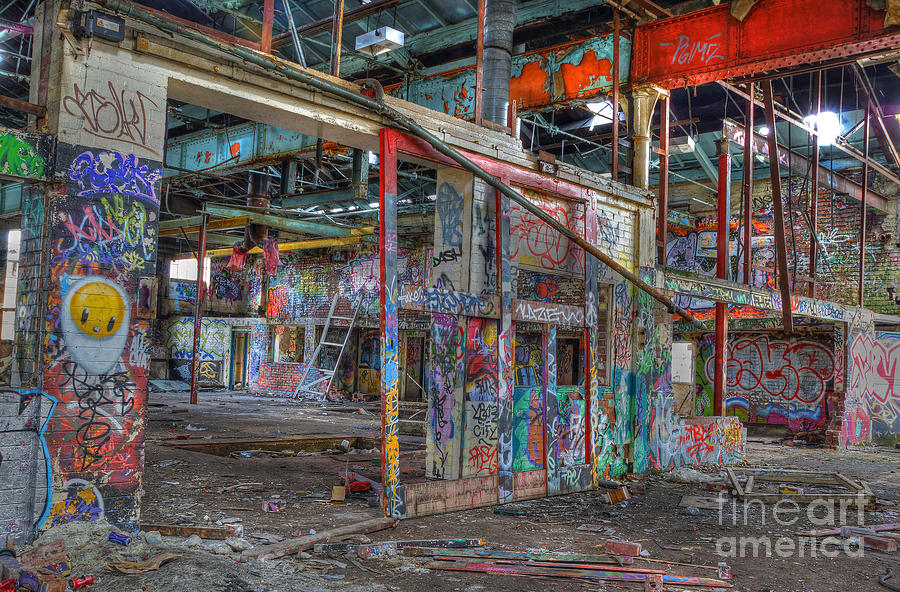 Color Photograph - Coloured Dereliction by David Birchall