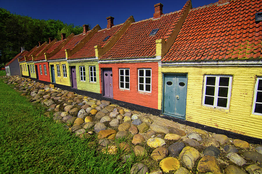 Coloured Houses Photograph by By Kim Schandorff