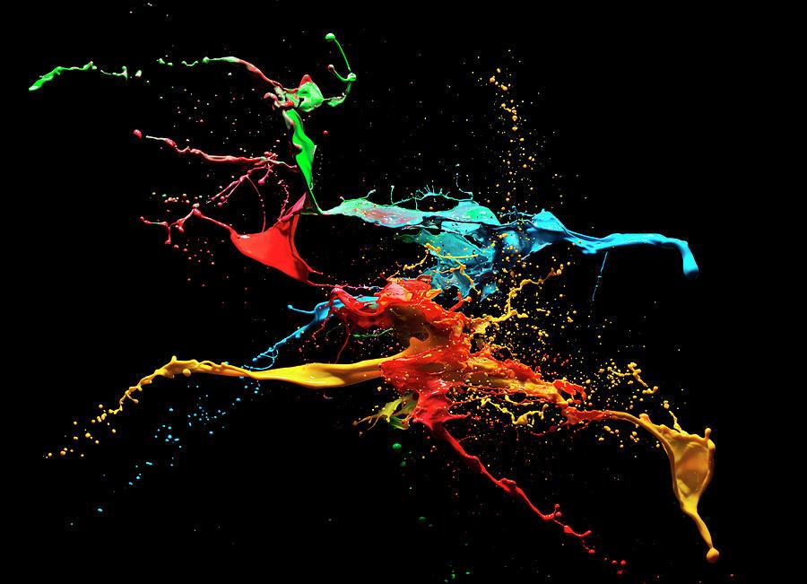 Coloured Liquid Splash Photograph by Henrik Sorensen