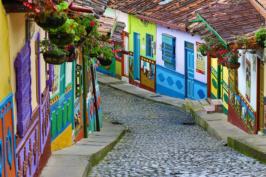 colourful architecture in Guatape Photograph by Barna Tanko