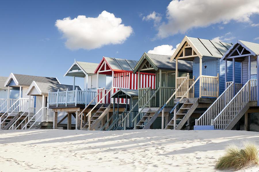 Beach Huts Photograph - Colourful Beach Huts by Gillian Dernie
