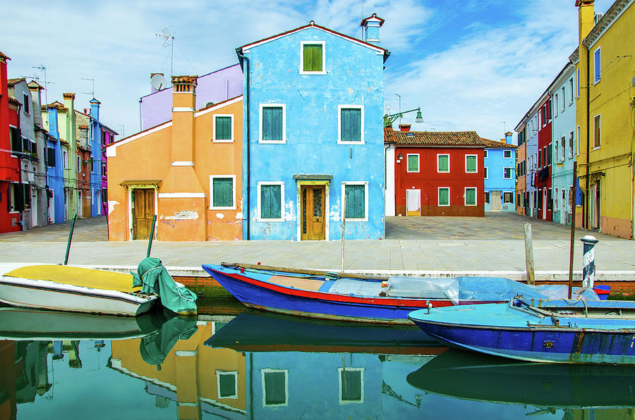 Colourful Burano Photograph by Federica Gentile