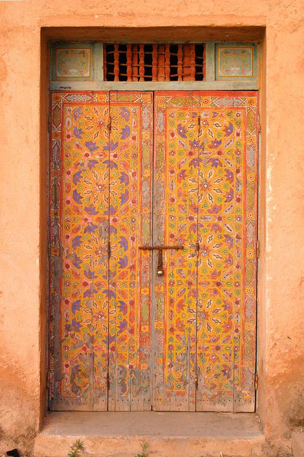 Door Photograph - Colourful Entrance Door Sale Rabat Morocco by Ralph A  Ledergerber-Photography