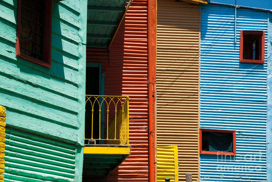 America Photograph - Colourful Houses In The Colourful Quarter Of La Boca - Buenos Air by OUAP Photography