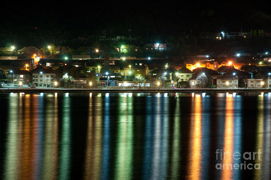 Night Photograph - Colourful Night by Ciprian Kis