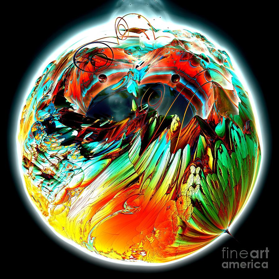 Digital Digital Art - Colourful Planet by Bernard MICHEL