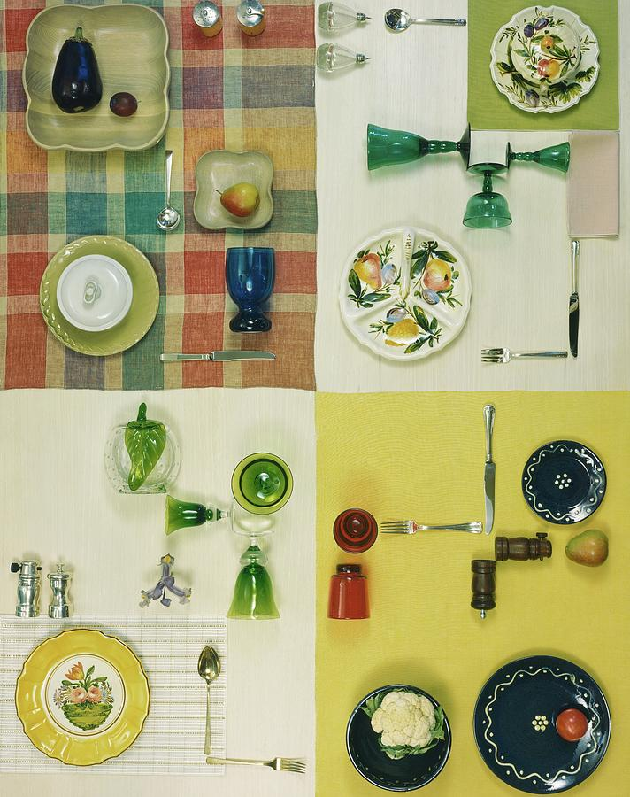 Colourful Table Settings Photograph by Herbert Matter