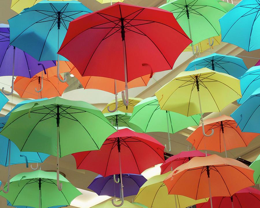 Colourful Umbrellas Photograph by Sharon Lapkin