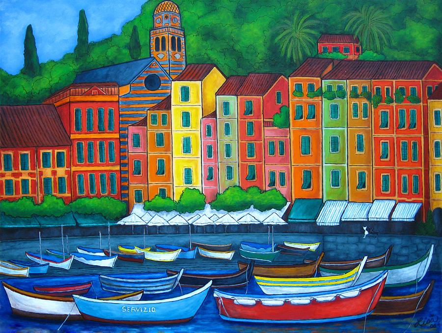 Portofino Painting - Colours Of Portofino by Lisa  Lorenz