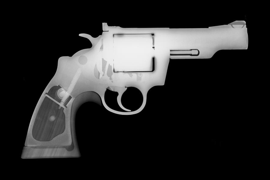 Antique Firearms Photograph - Colt 357 Magnum Reverse by Ray Gunz