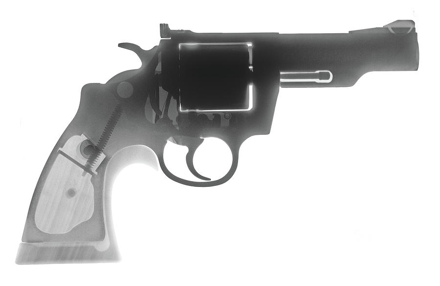Antique Firearms Photograph - Colt 357 Magnum X Ray Photograph by Ray Gunz