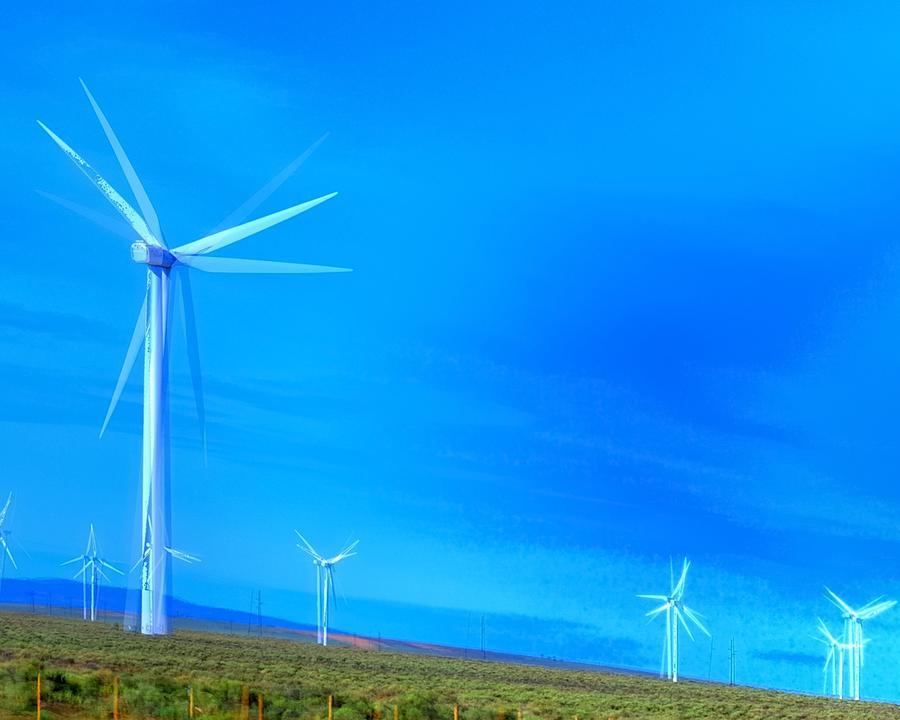 Columbia Gorge Wind Turbines 16516 Photograph