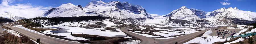 Columbia Icefields, Alberta - Panorama Photograph