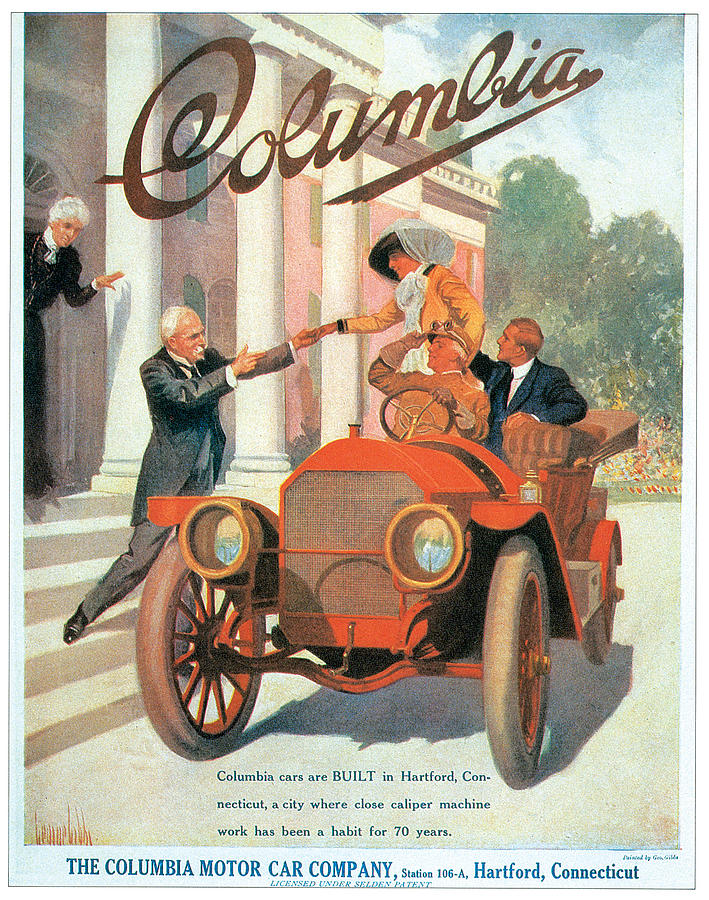 Columbia Motor Car Company Photograph by Vintage Automobile Ads and ...
